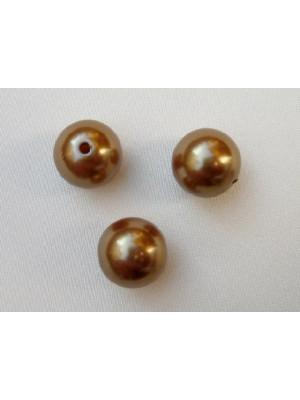 Perla effetto perlato in resina liscia colore Oro scuro
