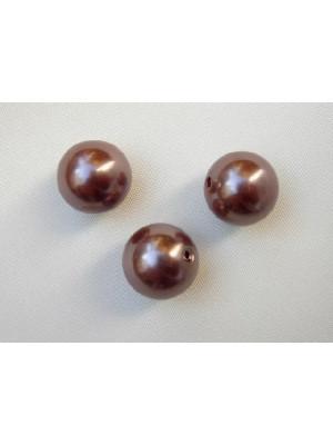 Perla effetto perlato in resina liscia colore Bronzo rosato