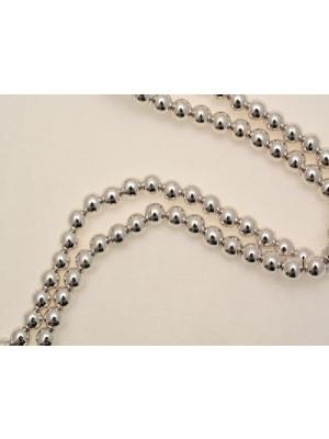 Filo di perle effetto perlato tonde in resina butterfly colore argento