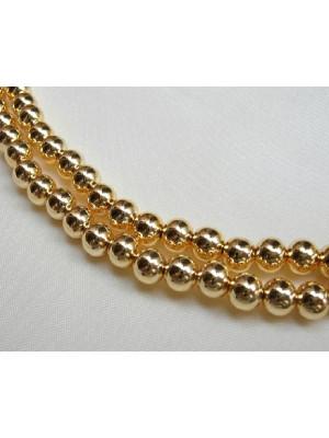 Filo di perle effetto perlato tonde in resina butterfly colore oro