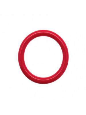 Cerchio bombato, forato al centro, in resina diametro 41 mm., spessore anello 5,5 mm., colore Fucsia