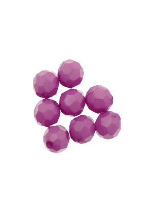 Palla in resina sfaccettata, color Viola