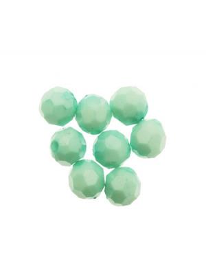 Palla in resina sfaccettata, color Verde Menta