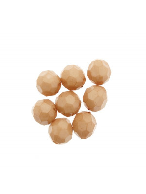Palla in resina sfaccettata, color Nocciola
