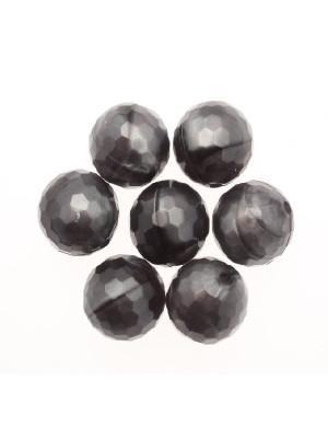 Palla multisfaccettata in resina color Madreperlato Grigio