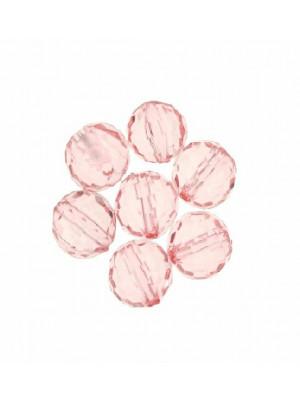 Palla sfaccettata in resina color Rosa chiaro trasparente