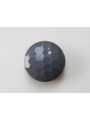 Pasticca foro passante multisfaccettata in resina color Grigio perla scuro