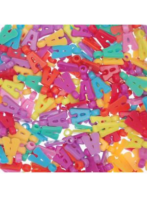 """Ciondolo in Plastica Lettera """"A"""" 18x10mm."""