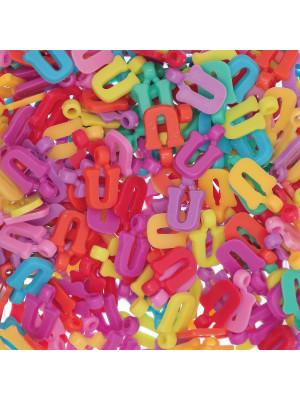 """Ciondolo in Plastica Lettera """"U"""" 18x11mm."""