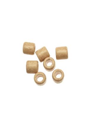 Distanziatori a tubo liscio, in ceramica, 10x11 mm., colore BEIGE