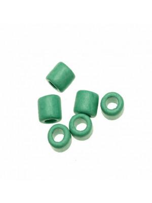 Distanziatori a tubo liscio, in ceramica, 10x11 mm., colore VERDE ACQUA
