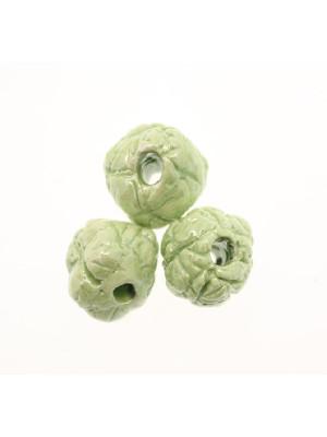 Palla martellata in ceramica, 18 mm., Colore Verde