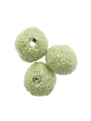 Palla martellata in ceramica, 22 mm., Colore Verde