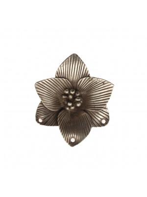 Ciondolo fiore gigante con tre fori