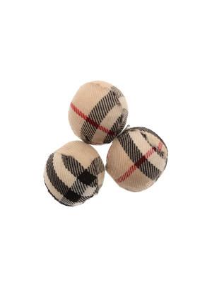 Palla in stoffa scozzese, color BEIGE