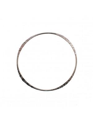 Base per bracciale a forma di cerchio, 68x2 mm.