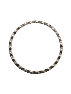 Base per bracciale a forma di cerchio, piatto, ad onde piccole, diametro 70 mm.