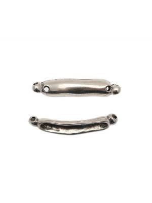 Elemento per bracciale ricurvo a forma di barretta per l'inserimento di perline