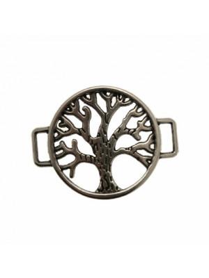 Elemento per bracciale ricurvo a forma di cerchio traforato con albero centrale