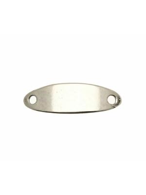 Elemento per bracciale ricurvo a forma di piastra ovale liscia