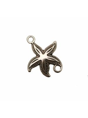 Elemento per bracciale piatto a forma di stella marina