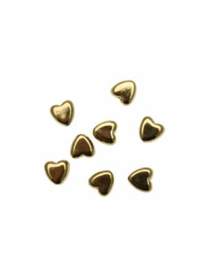 Distanziatore a forma di cuore piatto, foro passante, 7x7 mm. in resina