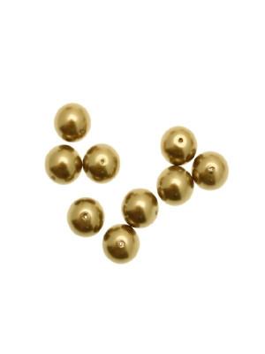 Perla in vetro effetto perlato 10 mm. color Bronzo medio