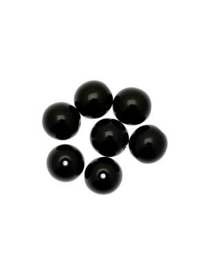 Perla in vetro colore NERO