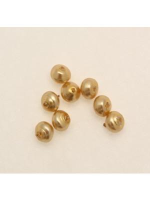 Perla in vetro effetto perlato serie pregiata, conchiglia 6 mm., color Oro