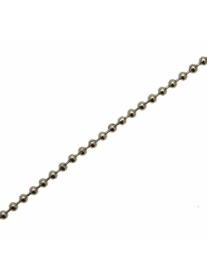 Catena a palline, in acciaio, spessore 2 mm.