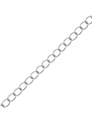 Catena grumetta, in Acciaio, diametro dell'anello 5,1x3,9 mm.