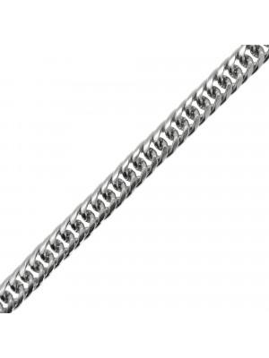 Catena grumetta bombatina, in acciaio, dimensione anello 7,5x10 mm.