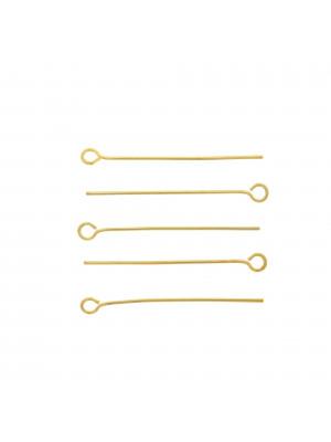 Chiodino a 9 30x0,70 mm. in Acciaio colore Oro Lucido