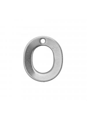 """Ciondolo a forma di lettera """"O"""", 11x10 mm., in Acciaio"""
