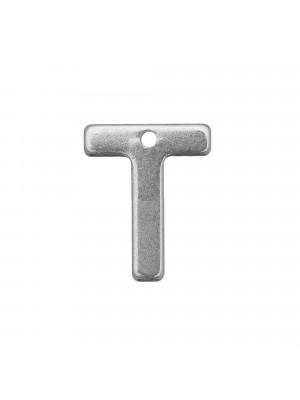 """Ciondolo a forma di lettera """"T"""", 11x9 mm., in Acciaio"""
