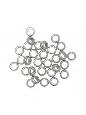Distanziatore anello tondo, 6x2 mm., in Acciaio