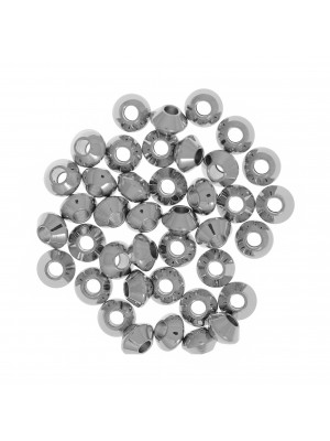 Distanziatore a forma di disco liscio, 4x2,5 mm., in Acciaio