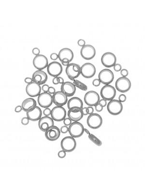 Distanziatore a forma di rondella sottile con anello, in Acciaio, 6x8mm.