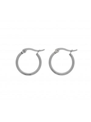 Cerchio per orecchino, in Acciaio, con chiusura a scatto, diametro 19 mm.