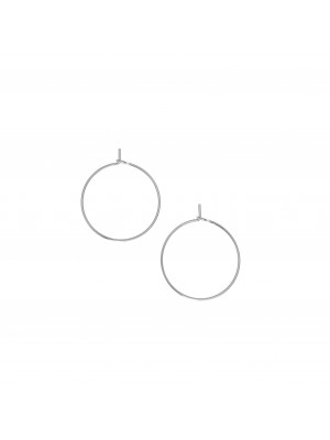 Cerchio per orecchino, liscio, con chiusura a gancio, in Acciaio, diametro 20 mm.