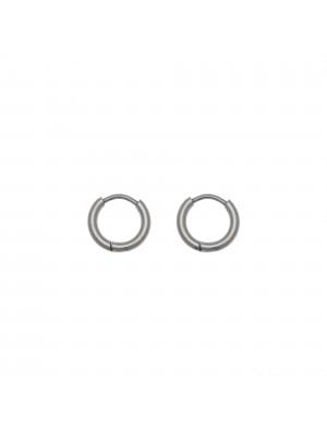 Cerchio per orecchino, in Acciaio, con chiusura ad incastro, diametro 12 mm.