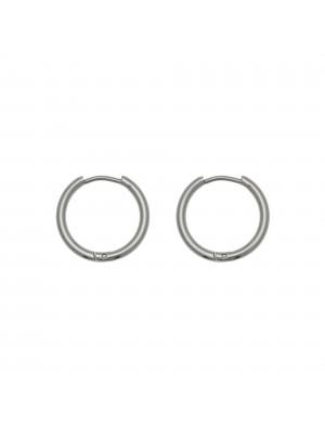 Cerchio per orecchino, in Acciaio, con chiusura ad incastro, diametro 18 mm.
