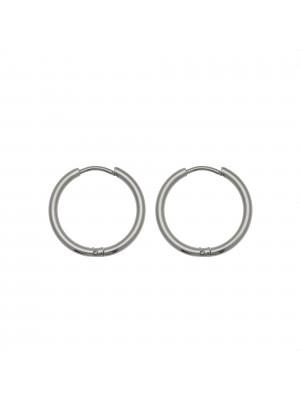 Cerchio per orecchino, in Acciaio, con chiusura ad incastro, diametro 20 mm.