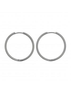 Cerchio per orecchino, in Acciaio, con chiusura ad incastro, diametro 29 mm.