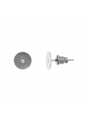 Perno tondo piatto da incollo, 8 mm., in Acciaio