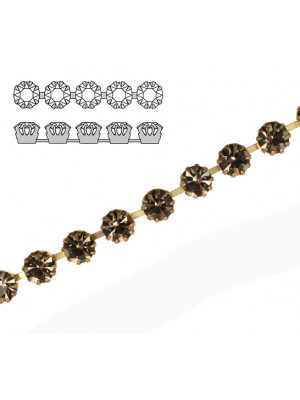 Catena strass francese, con cristalli non Swarovski, colore strass BLACK DIAMOND