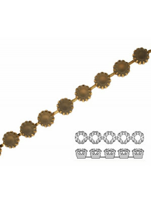 Catena strass francese, con cristalli non Swarovski, colore strass BLACK DIAMOND SATINATO