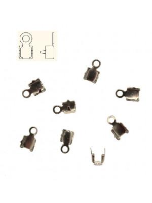Finalino per catena strass, misura PP24 (3.00-3.20), con anellino chiuso finale