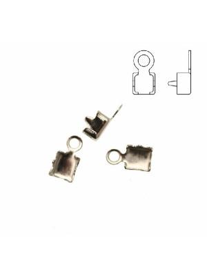 Finalino per catena strass, misura PP32 (4.00-4.10), con anellino chiuso finale