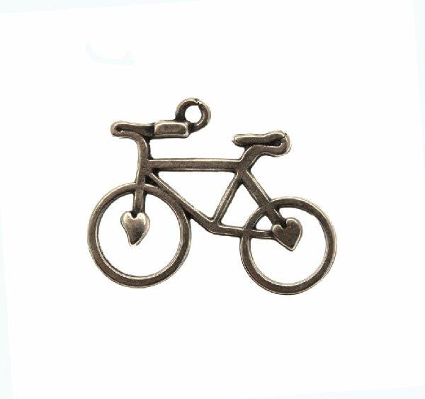 Ciondolo A Forma Di Bicicletta Stilizzata 23x30 Mm